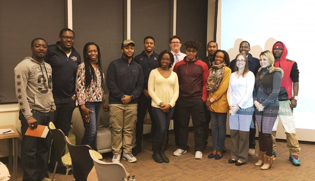 Attendees at the Morgan State Student Chapter Meeting on November 11, 2015