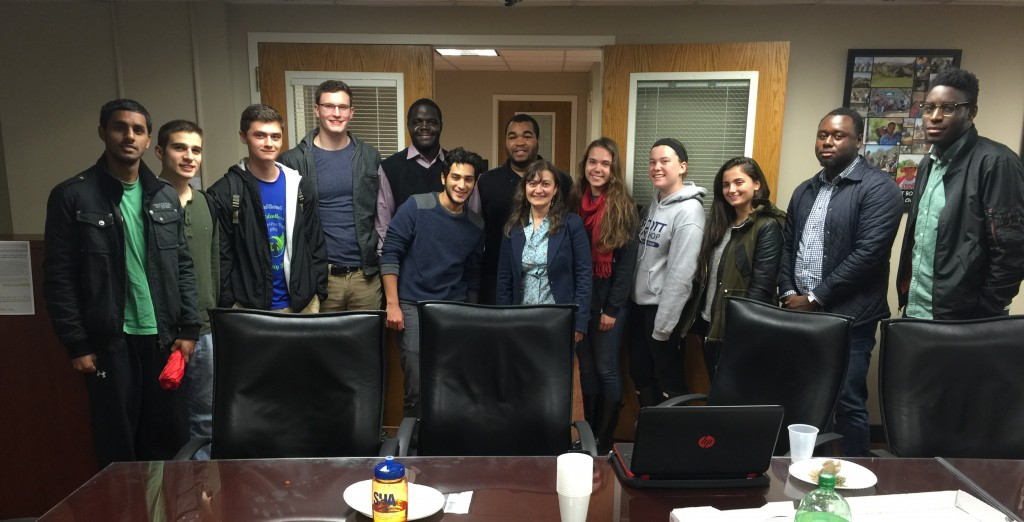 Members of the University of Maryland Student Chapter at the General Body Meeting on November 10